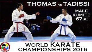 FINAL. Male Kumite -67kg. THOMAS (ENG) vs TADISSI (HUN). 2016 World Karate Championships