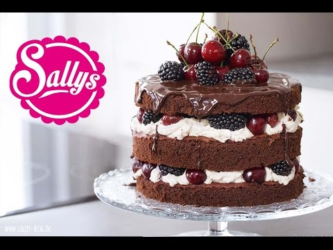 Naked Cake Schokoladentorte Mit Mascarponecreme Kirschen Und
