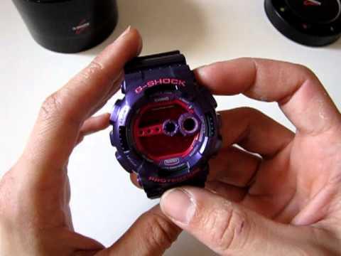 CASIO G-Shock GD-100SC-6 - violet pink digital watch - YouTube bee5cf8ec6