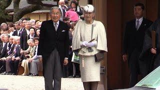 2016年4月3日 午前に天皇、皇后両陛下は初代天皇とされる神武天皇の没後...
