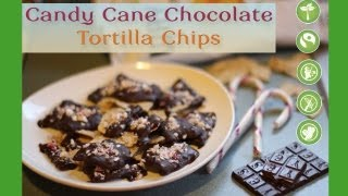 Candy Cane Chocolate-covered Tortilla Chips