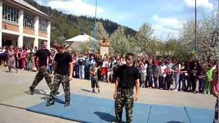 выступление военно-патриотического кружка в  Лопухово