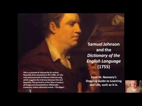AP ELC lecture: Samuel Johnson and _A Dictionary of the English Language_ (1755)