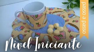 Aprenda a fazer um Mug Rug com formas arredondadas