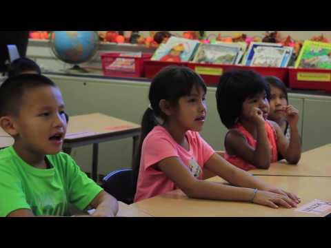 Crow Language Immersion Class at Crow Agency School