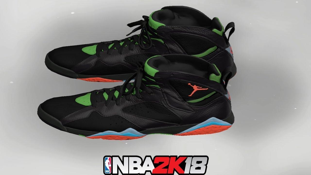 NBA 2K18 Shoe Creator ⋆ NBA2K18⋆ Jordan 7 Barcelona Nights - YouTube 9aa2a4897