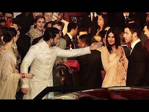 Ranveer Deepika, Priyanka Nick Jonas Arrives At Isha Ambani's Wedding Reception