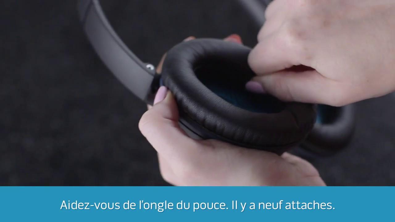 Remplacement Des Coussinets Des Casques Bose Circum Aural Youtube