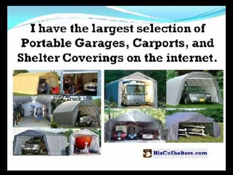 HisCoShelters Intro to Portable RV Garage Shelter Carport ...