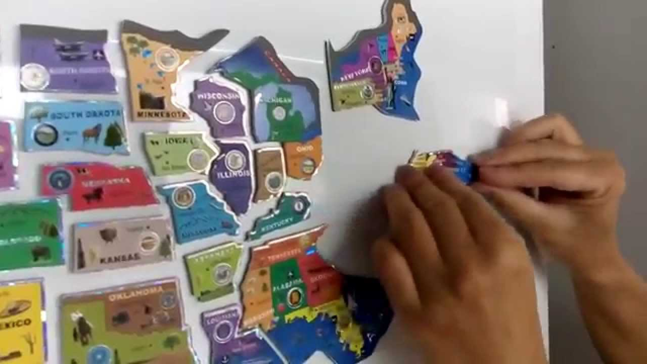 USA magnetic puzzle map YouTube