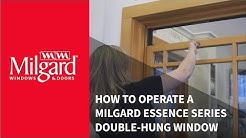 How to Operate a Milgard® Essence Series® Double-Hung Window