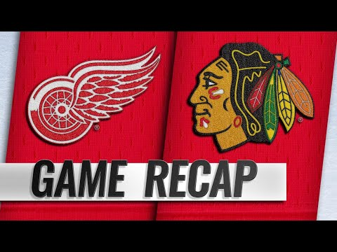 Athanasiou, Vanek lead Red Wings past Blackhawks, 8-6