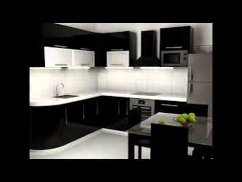 Black And White Kitchen Cabinets - YouTube