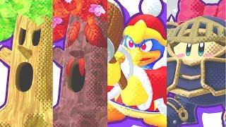Kirby Star Allies - All Bosses (Pause Screen Bios)