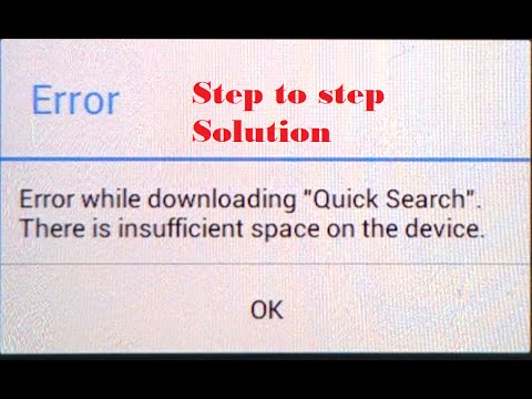 How to fix the error: There is insufficient space on this device (Android Phones)