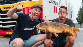 Karpervissen vanuit de vrachtwagen met Michiel Pilaar, helemaal goud!