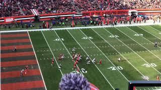 Nick Chubb's 92 yard td run Atlanta Falcons vs. the Cleveland Browns 11-11-2018