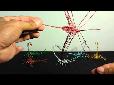 how to make a scorpion with wire