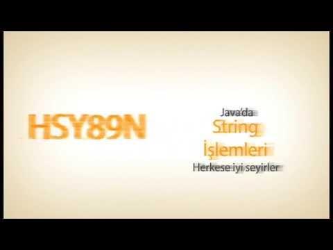 Java Günceleri - Ders 17 String İşlemleri