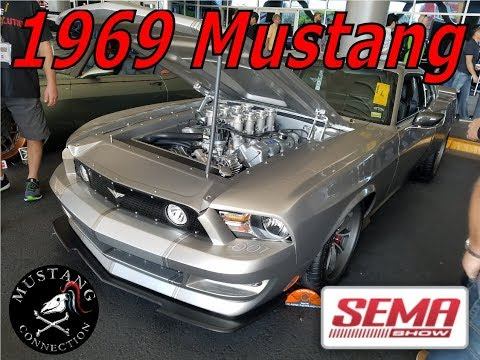 @SEMA 2017 #1969 Mustang Powered by a Boss 429 Kaase Motor now 520CI by #Vintage Fabrication