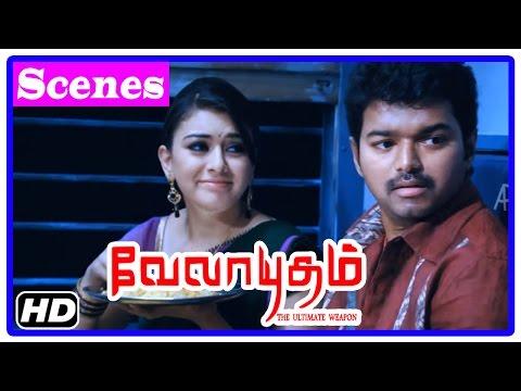 Velayudham Tamil Movie | Scenes | Beggar scolds Soori | Vijay | Saranya | Hansika thumbnail