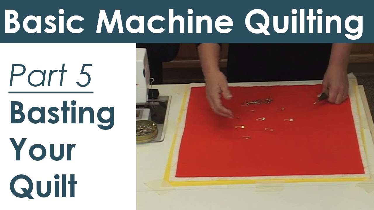 How to Baste a Quilt for Machine Quilting Preparing Your Quilt ... : youtube machine quilting videos - Adamdwight.com