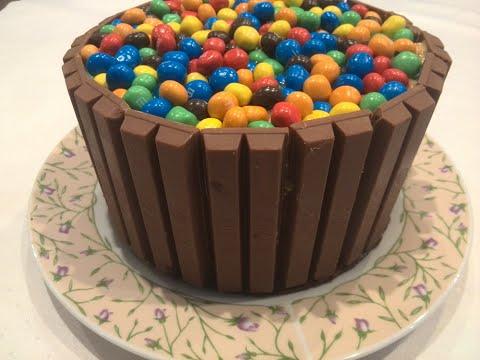 gâteau-kit-kat-et-m&m's.-facile-et-rapide