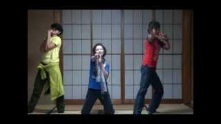 シブがき隊の名曲、「Zokkon命」を三姉妹で踊りました。ズームなしver....