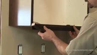 How To Install Cabinet Light Skirt Molding
