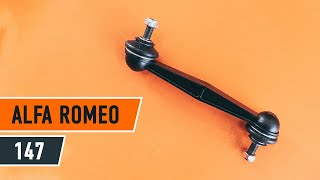 How to change Stabilizer bushes on ALFA ROMEO 147 (937) - online free video