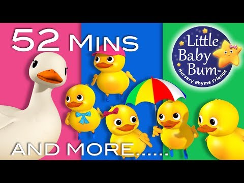 Free Download Five Little Ducks | Part 2 | Plus Lots More Nursery Rhymes | 52 Mins Compilation From Littlebabybum! Mp3 dan Mp4