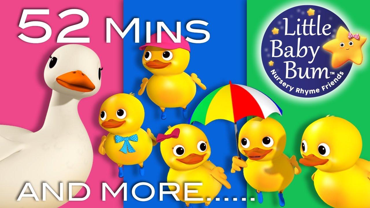 Download Five Little Ducks | Part 2 | Plus Lots More Nursery Rhymes | 52 Mins Compilation from LittleBabyBum!