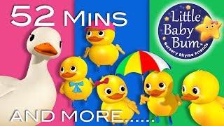 Five Little Ducks  Part 2  Plus Lots More Nursery Rhymes  52 Mins Compilation from LittleBabyBum