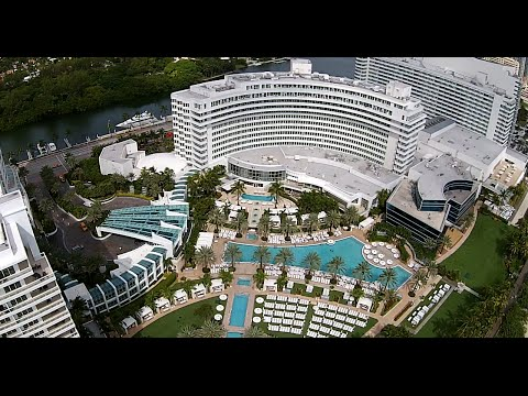 FontaineBleau Hotel Miami Beach Drone View