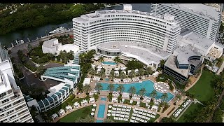 FontaineBleau Hotel Miami Beach Drone View