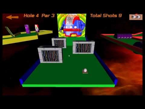 Crazy Golf In Space. Free game for mobiles and tablets.