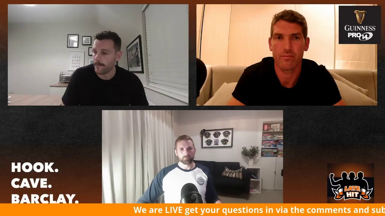 LIVE: Ask Em Anything - Darren Cave, John Barclay & James Hook on The Late Hit