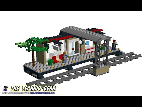 Moc Lego 60050 Train Station Instructions Youtube