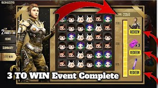 Free Fire Anniversary Event 3 To Win | How To Complete 3 To Win Event