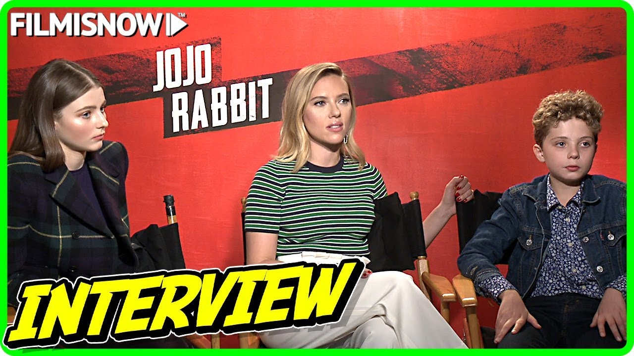 JOJO RABBIT | Thomasin McKenzie, Scarlett Johansson & Roman Griffin Davis talk about the movie