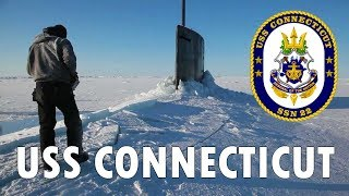 U.S. Navy Submarine Surfaces Through the Ice (USS Connecticut)