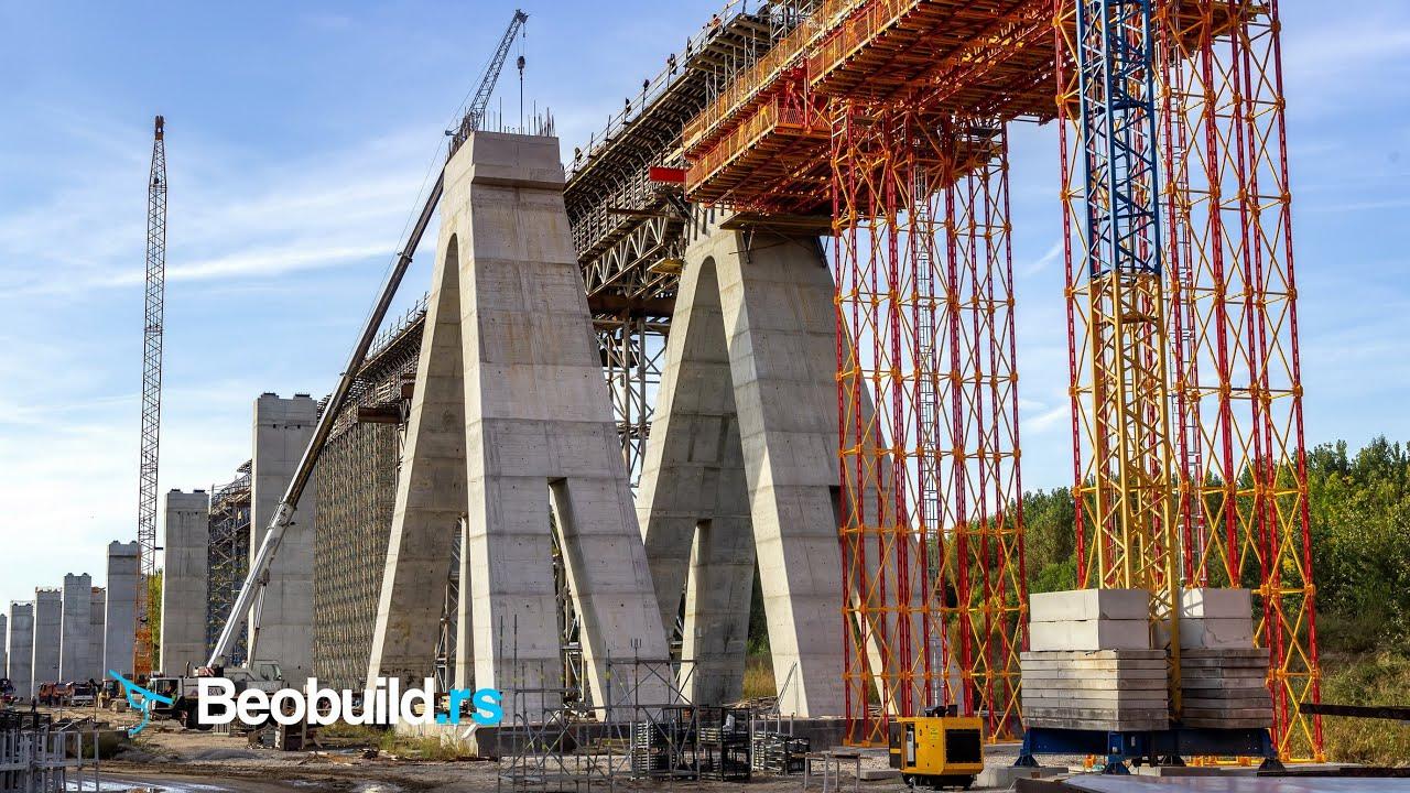 Izgradnja tunela i vijadukta Čortanovci na pruzi Beograd-Novi Sad - oktobar 2019.