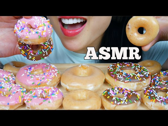 ASMR 12 KRISPY KREME DONUTS IN 10 MIN CHALLENGE (SOFT CRUNCH EATING SOUNDS) NO TALKING | SAS-ASMR