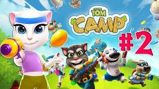 Говорящий Том Водная битва #2 игра про кота Лагерь Говорящего Тома Tom Camp