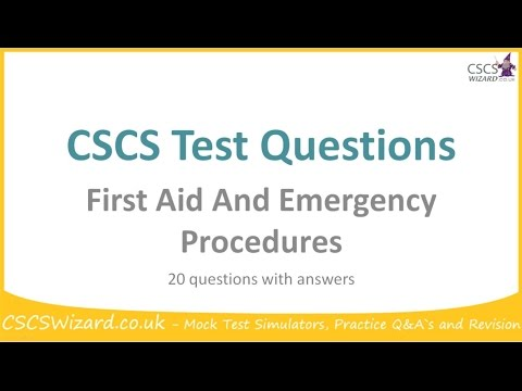 CSCS Test Questions   First Aid And Emergency Procedures