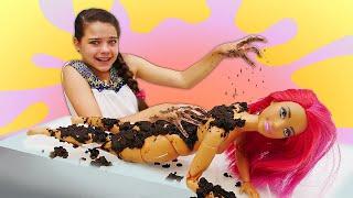 Видео с куклами Барби. Как похудеть? Кукла Тереза в Салоне красоты! Игры в куклы для девочек