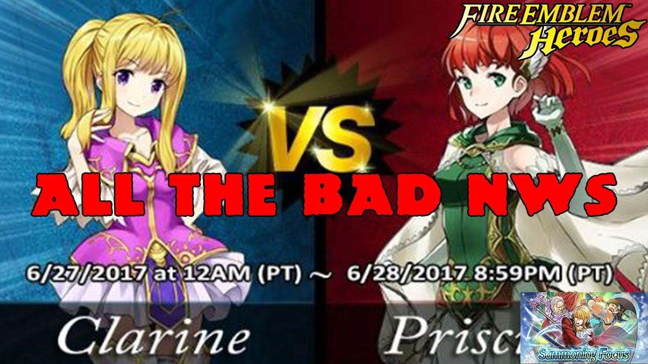 Fire Emblem Heroes Hawtai: Epic Match Up Clarine Vs Priscellia Healer Gauntlet [Fire