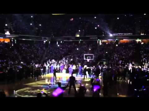 Kings vs. Lakers Player Introductions (Blackout) 12-26-11