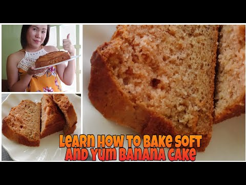 How to bake soft and yum banana cake ? (mommy way )