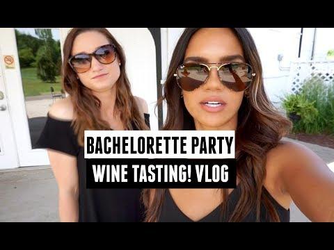 BACHELORETTE VLOG! WINE TASTING PARTY!